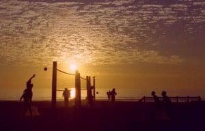 Moonlight Beach volleyball