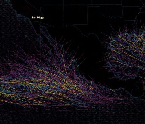 hurricane paths
